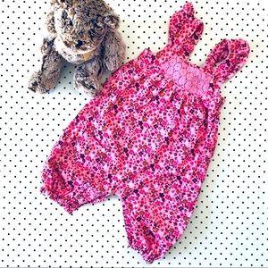 Girls size 1 PUMPKIN PATCH pink corduroy overalls